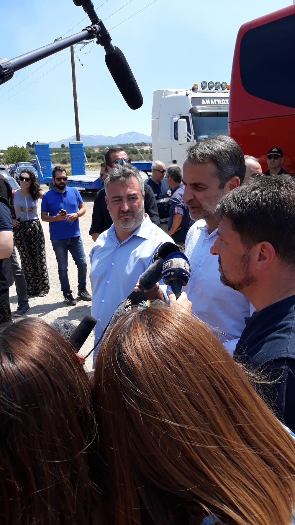 Ο πρωθυπουργός Κυριάκος Μητσοτάκης στα Ψαχνά 20190814 134747