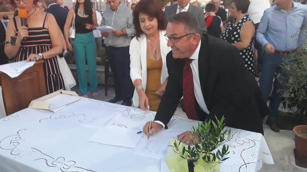 Πραγματοποιήθηκε η ορκωμοσία του νέου δημοτικού συμβουλίου του Δήμου Διρφύων Μεσσαπίων 20190830 201336