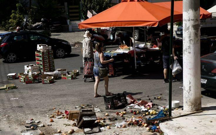 Εικόνες από τη λαϊκή αγορά στην Ηλιούπολη που έγινε το τροχαίο           3