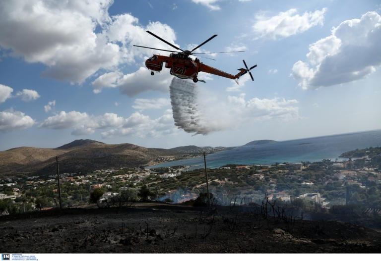 Φωτιά στο Λαγονήσι: Από τύχη δεν θρηνήσαμε θύματα lagonisi fotia elikoptero 768x527