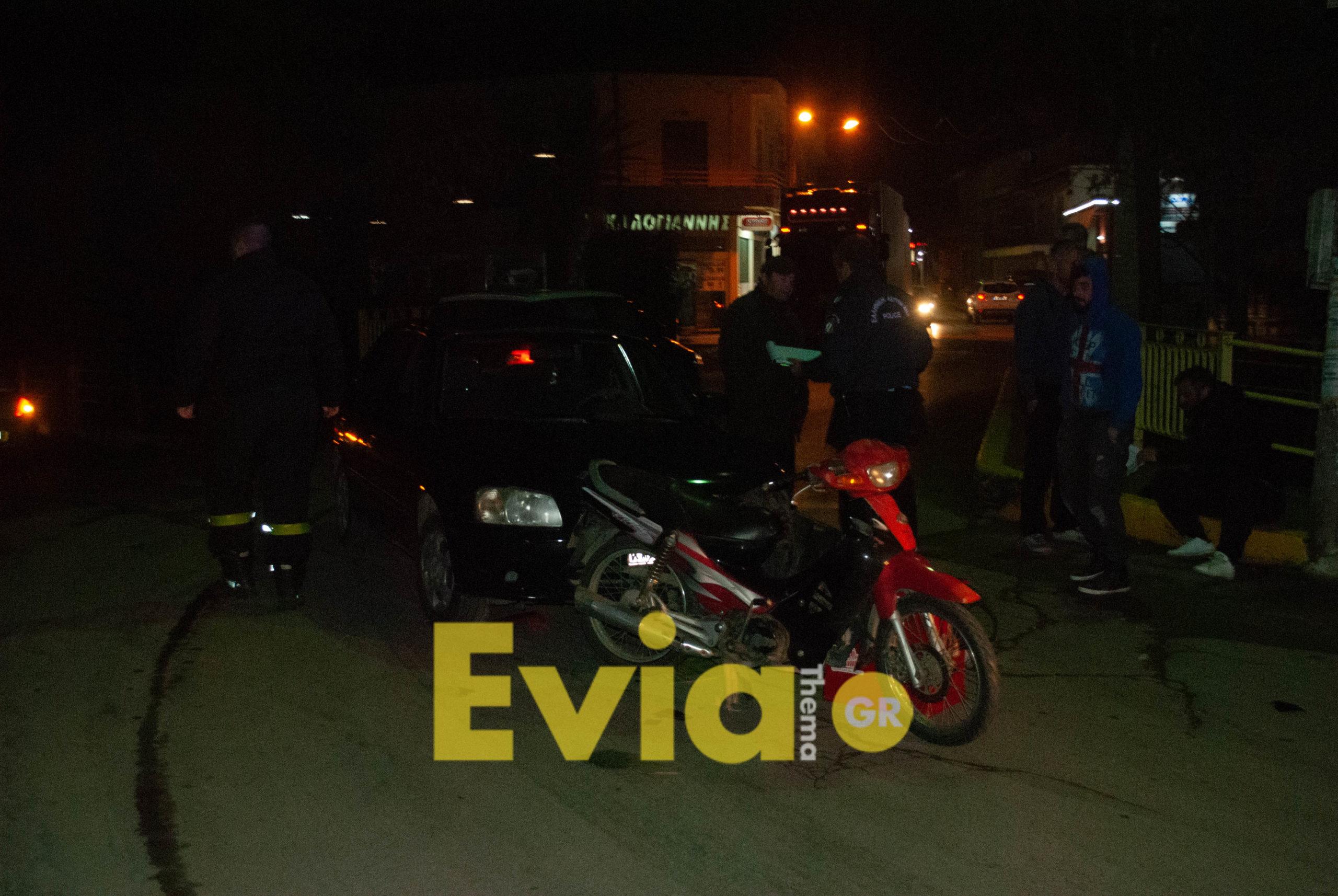 , Ψαχνά: Σφοδρή σύγκρουση αυτοκινήτου με μοτοσυκλέτα, Eviathema.gr | Εύβοια Τοπ Νέα Ειδήσεις