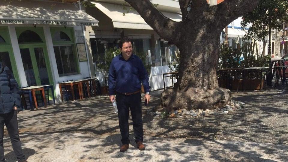 , Γιώργος Τσαπουρνιώτης: Βγήκε έξω να επιβλέψει την απολύμανση, Eviathema.gr | ΕΥΒΟΙΑ ΝΕΑ - Νέα και ειδήσεις από όλη την Εύβοια