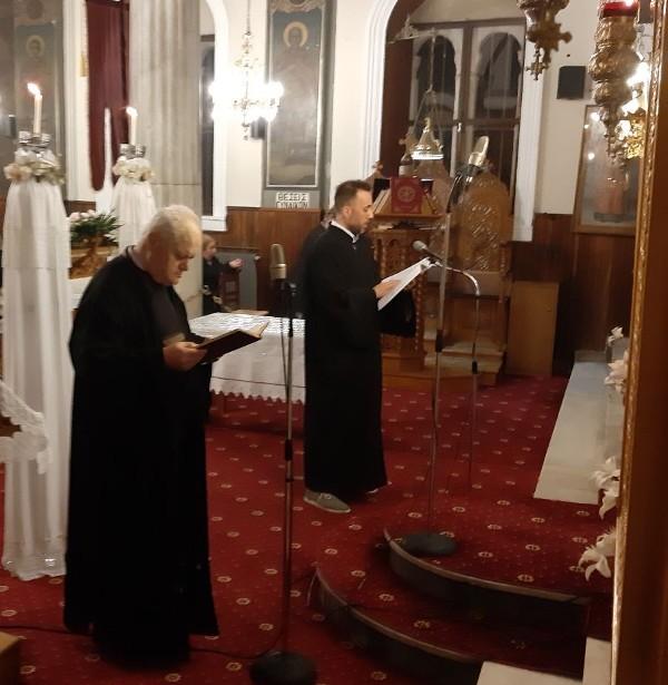 Μητροπολίτης Χαλκίδος Ο Μητροπολίτης Χαλκίδος στον Ιερό Ναό Κοιμήσεων της Θεοτόκου για τους Χαιρετισμούς IMX B Xairetismoi 13