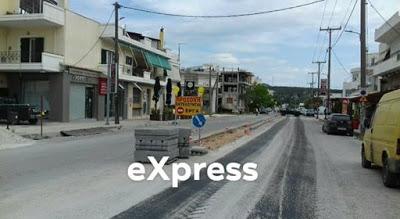 Αλιβέρι: Ασφαλτοστρώνεται αυτή την ώρα ο δρόμος στην είσοδο της περιοχής