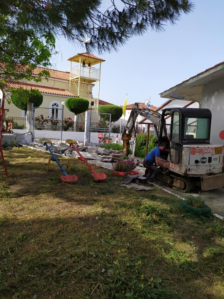 Μαντούδι: Ξεκίνησαν οι εργασίες στο νηπιαγωγείο, Μαντούδι: Ξεκίνησαν οι εργασίες στο νηπιαγωγείο, Eviathema.gr | Εύβοια Τοπ Νέα Ειδήσεις