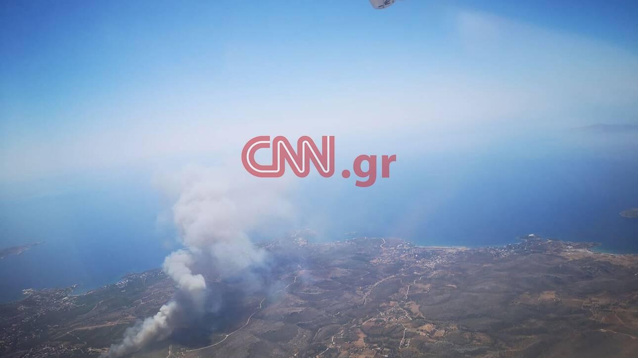 Φωτιά στο Λαύριο, Φωτιά στο Λαύριο: Συγκλονιστικές εικόνες από ψηλά, Eviathema.gr | Εύβοια Τοπ Νέα Ειδήσεις