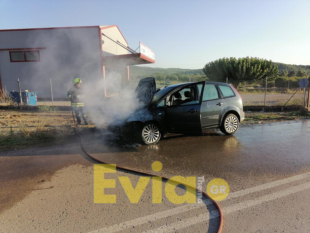 Ψαχνά Ευβοίας: ΙΧ αυτοκίνητο τυλίχτηκε στην φλόγες στην μέση του Δρόμου, Ψαχνά Ευβοίας: ΙΧ αυτοκίνητο τυλίχτηκε στην φλόγες στην μέση του Δρόμου – Έγκαιρη απομάκρυνση του οδηγού. [ΦΩΤΟΓΡΑΦΙΕΣ – ΒΙΝΤΕΟ], Eviathema.gr | ΕΥΒΟΙΑ ΝΕΑ - Νέα και ειδήσεις από όλη την Εύβοια