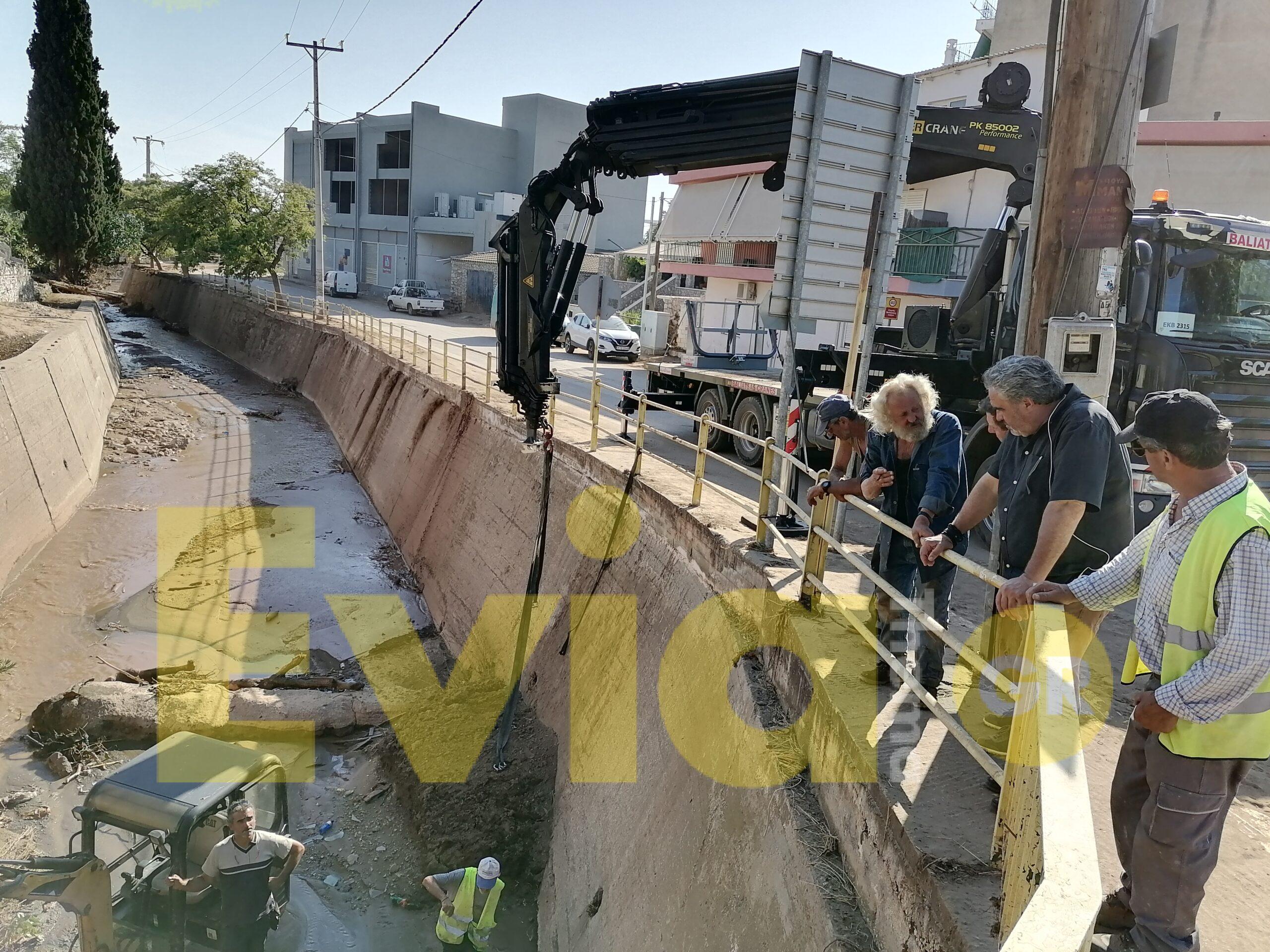 Ψαχνά Ευβοίας: Τιτάνια η προσπάθεια για την επαναφορά της ύδρευσης
