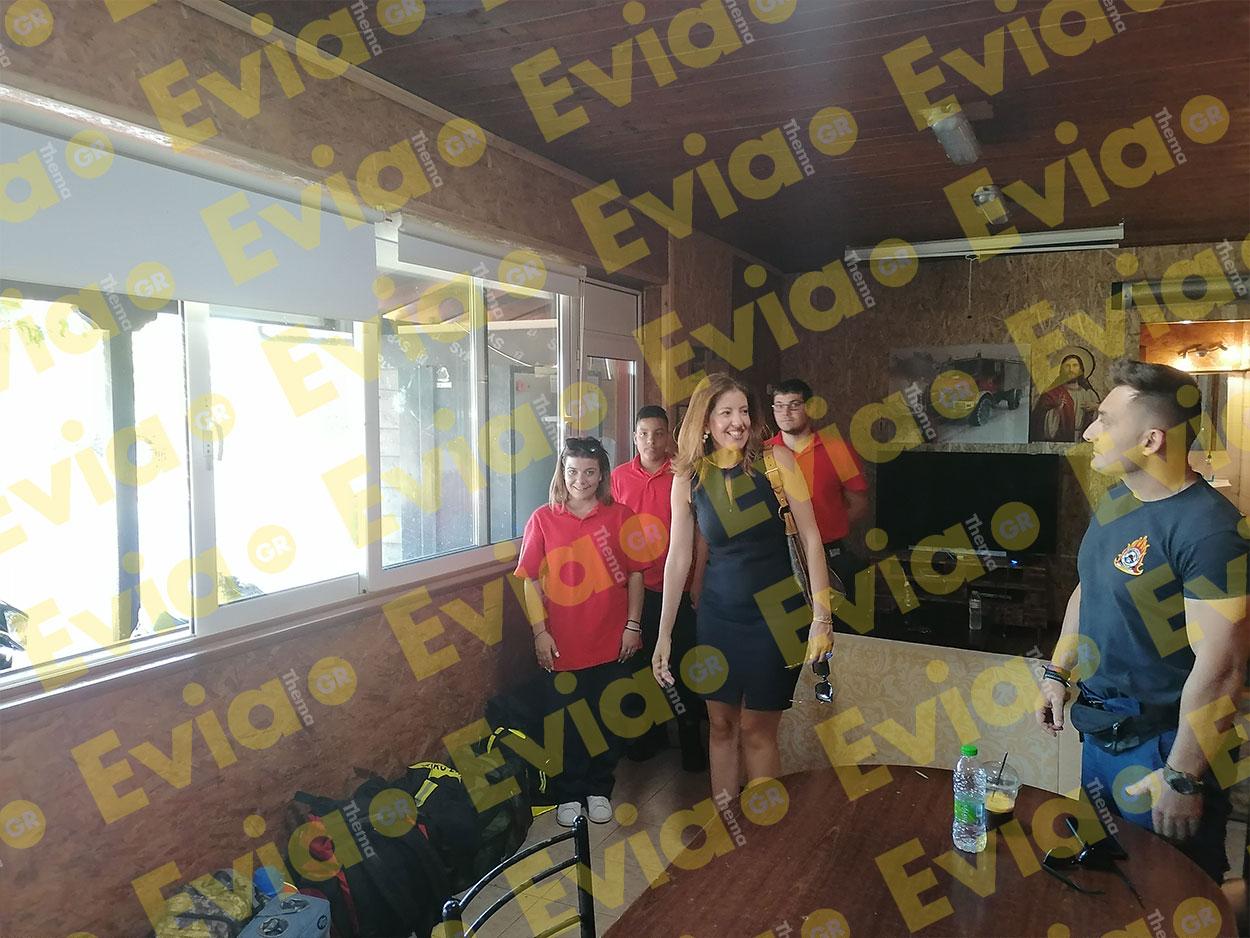 Η Κωνσταντίνα Καραμπατσόλη στο Εθελοντικό Πυροσβεστικό Κλιμάκιο στα Ψαχνά, Η Κωνσταντίνα Καραμπατσόλη στο Σύλλογο Εθελοντών Δασοπροστασία στα Ψαχνά Ευβοίας, Eviathema.gr   Εύβοια Τοπ Νέα Ειδήσεις