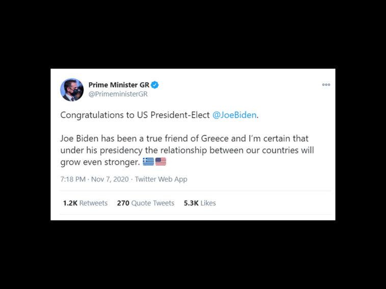 Μητσοτάκης Biden