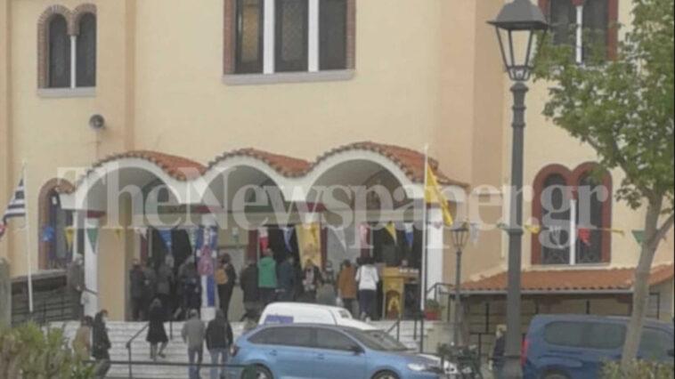 ιερείς άνοιξαν του Ναούς για να λειτουργήσουν, Βόλος: Χαμός σε εκκλησία που… άνοιξε τις πόρτες στους πιστούς! Χωρίς μάσκες και με… τηλεοπτική κάλυψη (pic), Eviathema.gr   Εύβοια Τοπ Νέα Ειδήσεις
