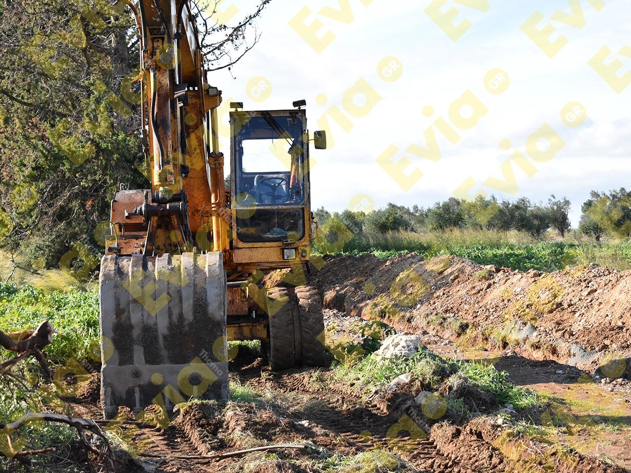 Έργο Ύδρευσης Δήμος Διρφύων Μεσσαπίων Στενή Μακρυκάπα