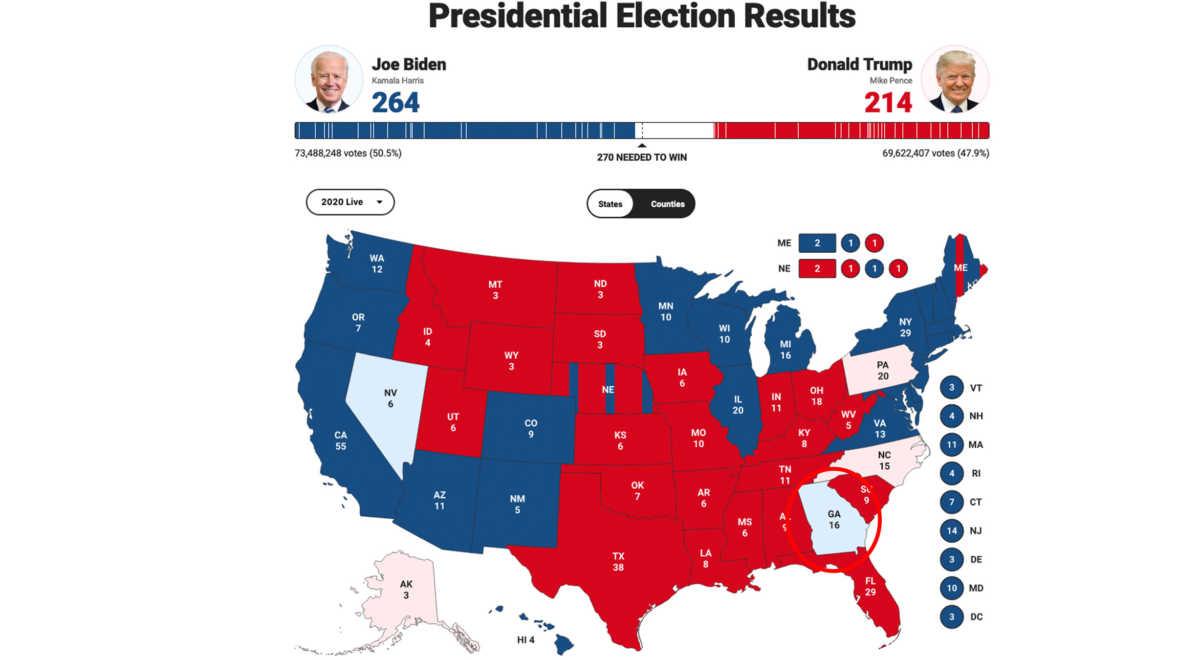 σκαλοπάτια του Λευκού Οίκου βρίσκεται ο Τζο Μπάιντεν, Εκλογές ΗΠΑ: Ανατροπή στη Τζόρτζια και προβάδισμα Τζο Μπάιντεν!, Eviathema.gr | Εύβοια Τοπ Νέα Ειδήσεις