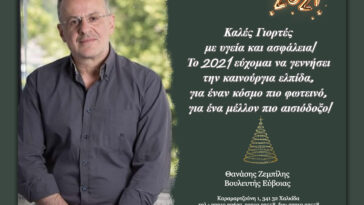 Θανάσης Ζεμπίλης Ευχές Χριστουγέννων, Ευχές του Βουλευτή Ευβοίας Θανάση Ζεμπίλη, Eviathema.gr | Εύβοια Τοπ Νέα Ειδήσεις