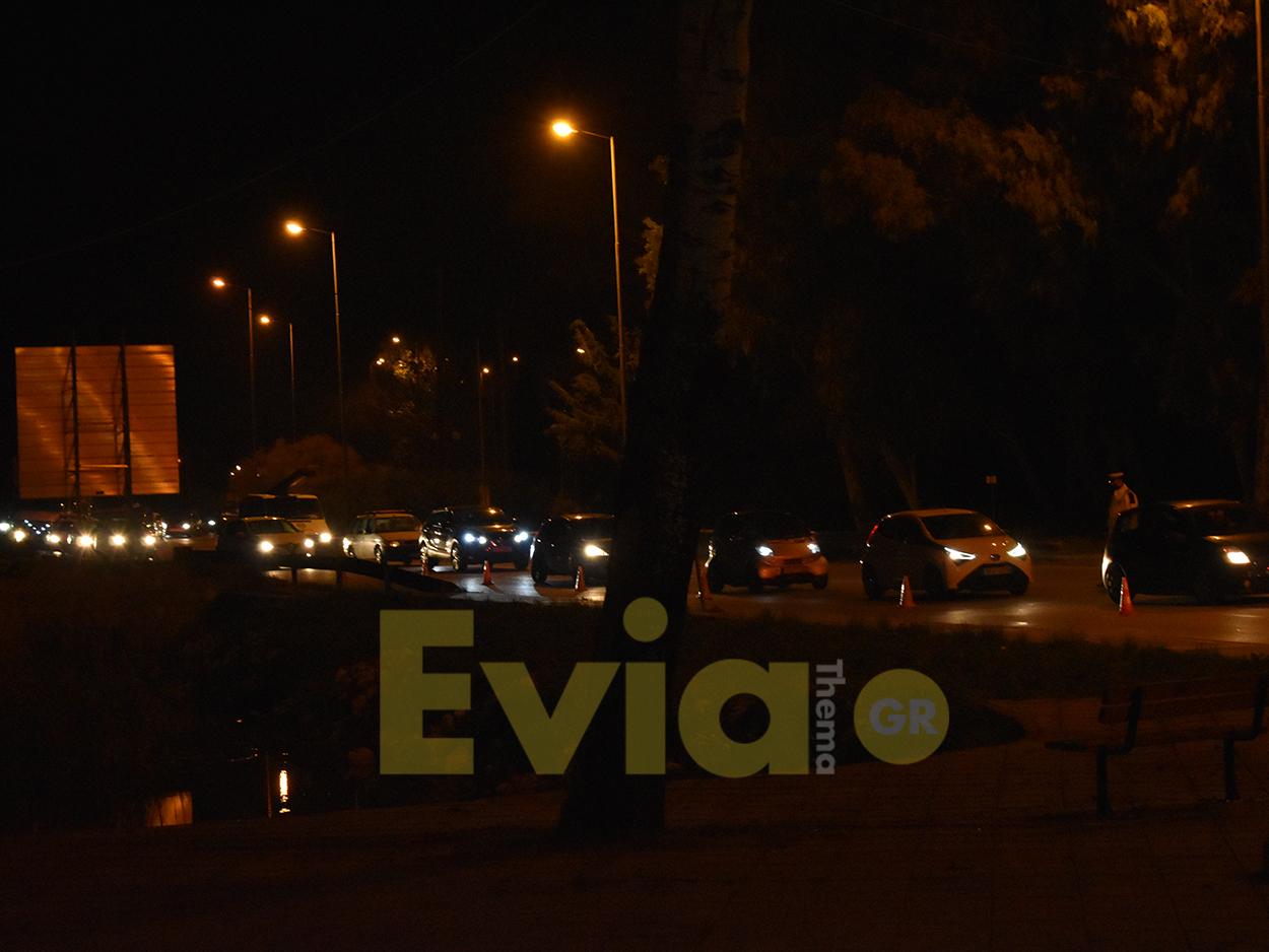 Έλεγχοι τροχαίας στην είσοδο της Χαλκίδας στην Εύβοια