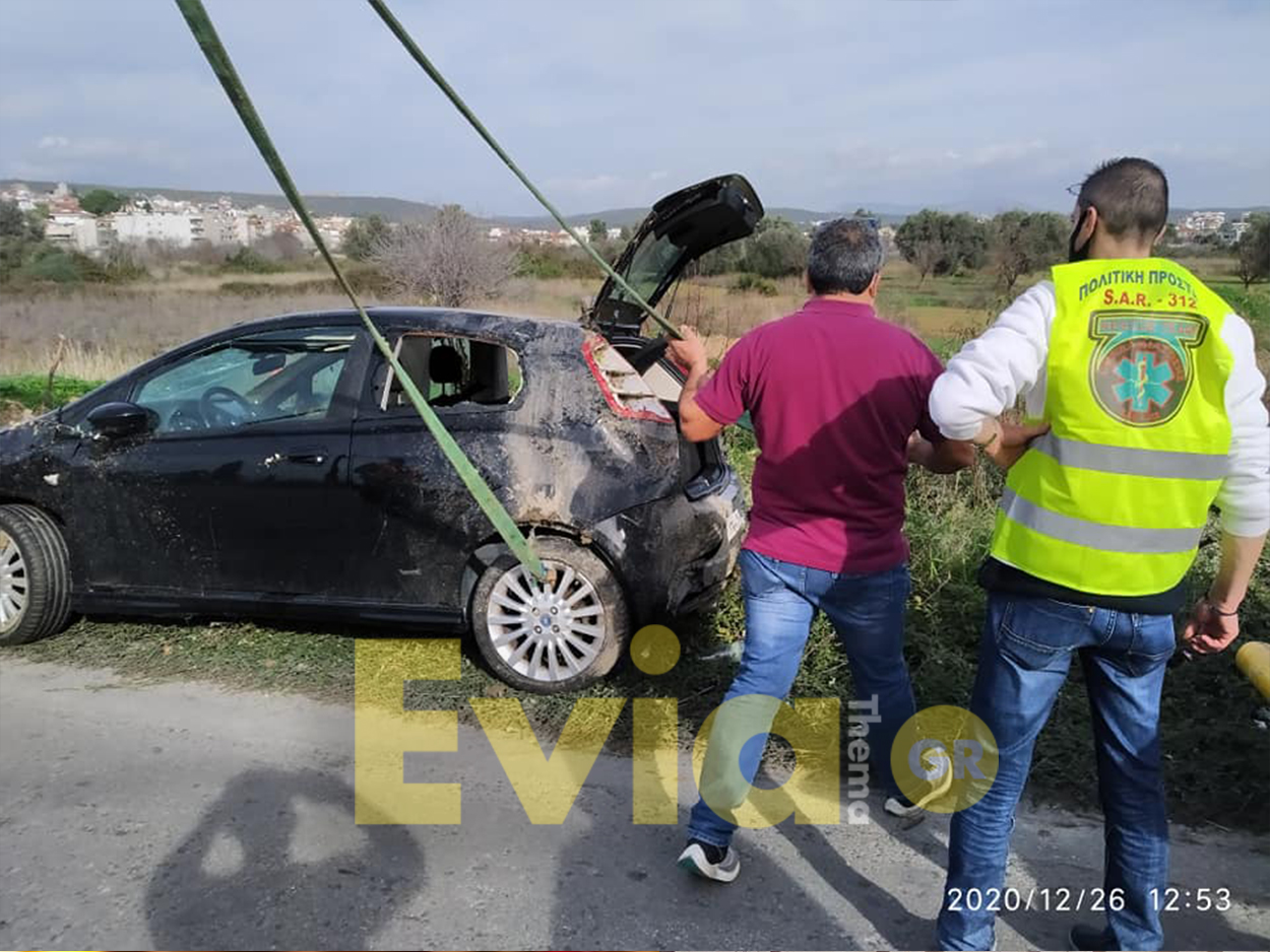 Αλιβέρι Ευβοίας Νεαρός οδηγόςέχασε για άγνωστους λόγους τον έλεγχο του ΙΧ αυτοκινήτου του
