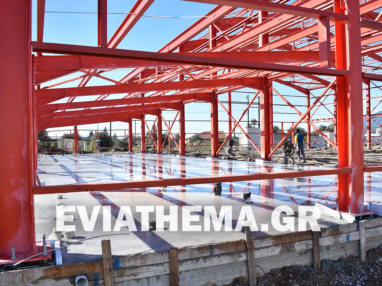 Κλειστό Γυμναστήριο Ψαχνών – Με γοργούς ρυθμούς το μεγάλο έργο της Περιφέρειας Στερεάς Ελλάδας
