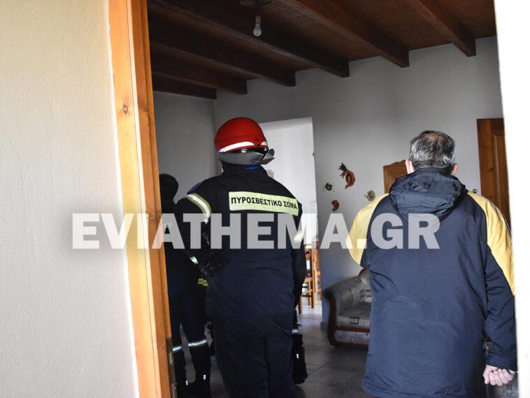 Καθενοί Ευβοίας Φωτιά σε σπίτι