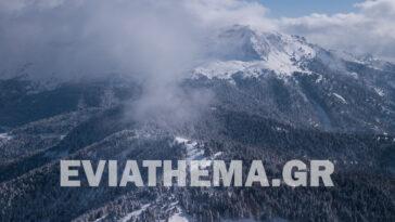 Εύβοια Οροσειρά Δίρφυς Χιόνι 2021
