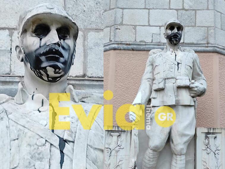 """Βανδαλισμός προκλήθηκε στο μνημείο του Άγνωστου Στρατιώτη, Λιβαδειά: Βανδάλισαν το μνημείο του Άγνωστου Στρατιώτη – Δήμος Λεβαδέων:""""αποτελεί πρόκληση και αντιπροσωπεύει το σκοτάδι και τον φανατισμό…"""", Eviathema.gr   Εύβοια Τοπ Νέα Ειδήσεις"""