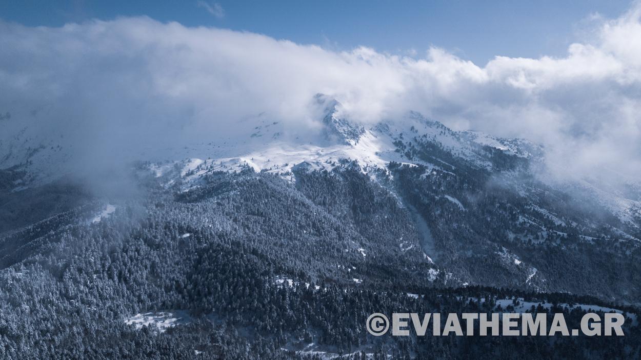 Εύβοια Στενή Δίρφυ Χιόνι