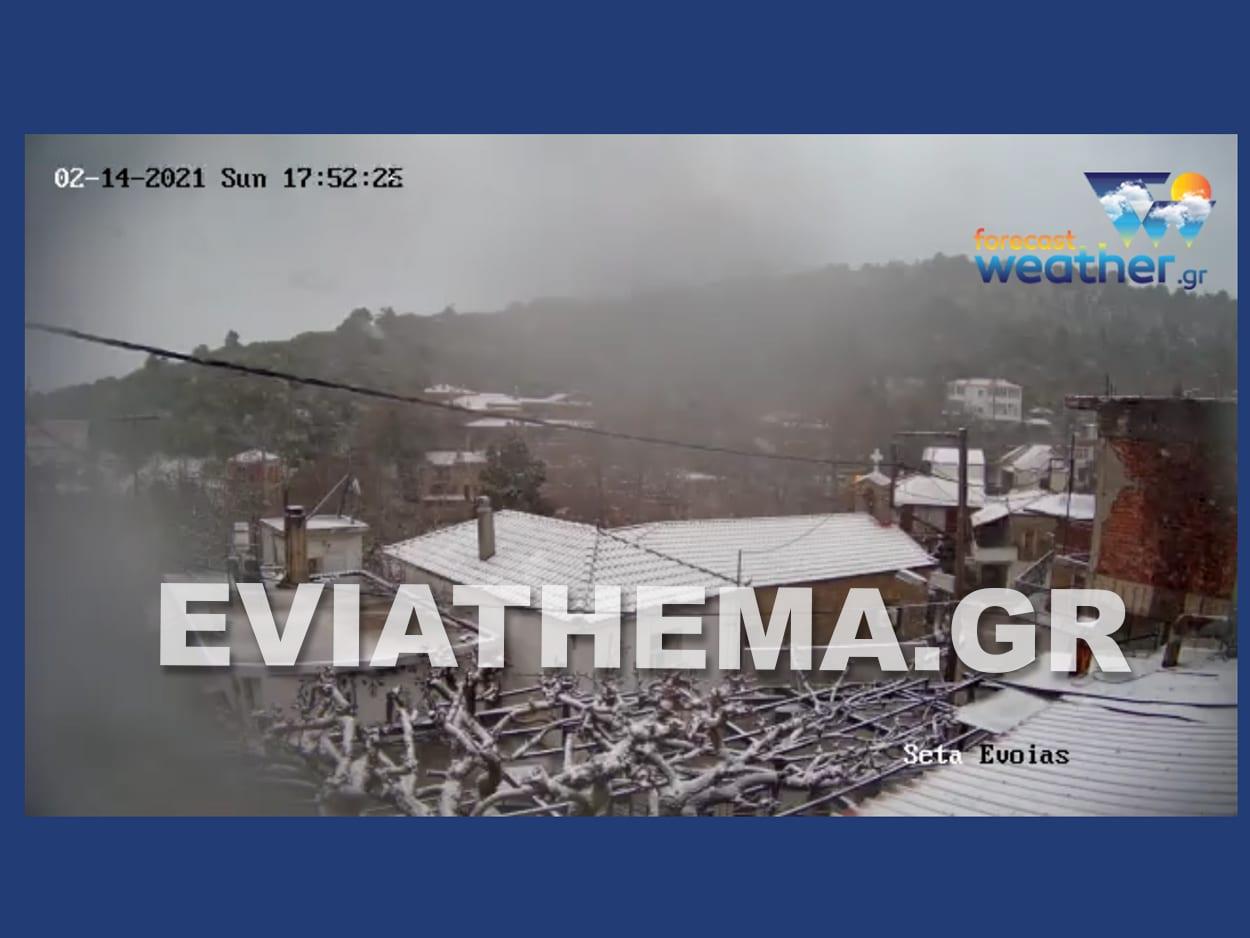 Σέττα Ερέτρια Εύβοια Μήδεια Χιόνι