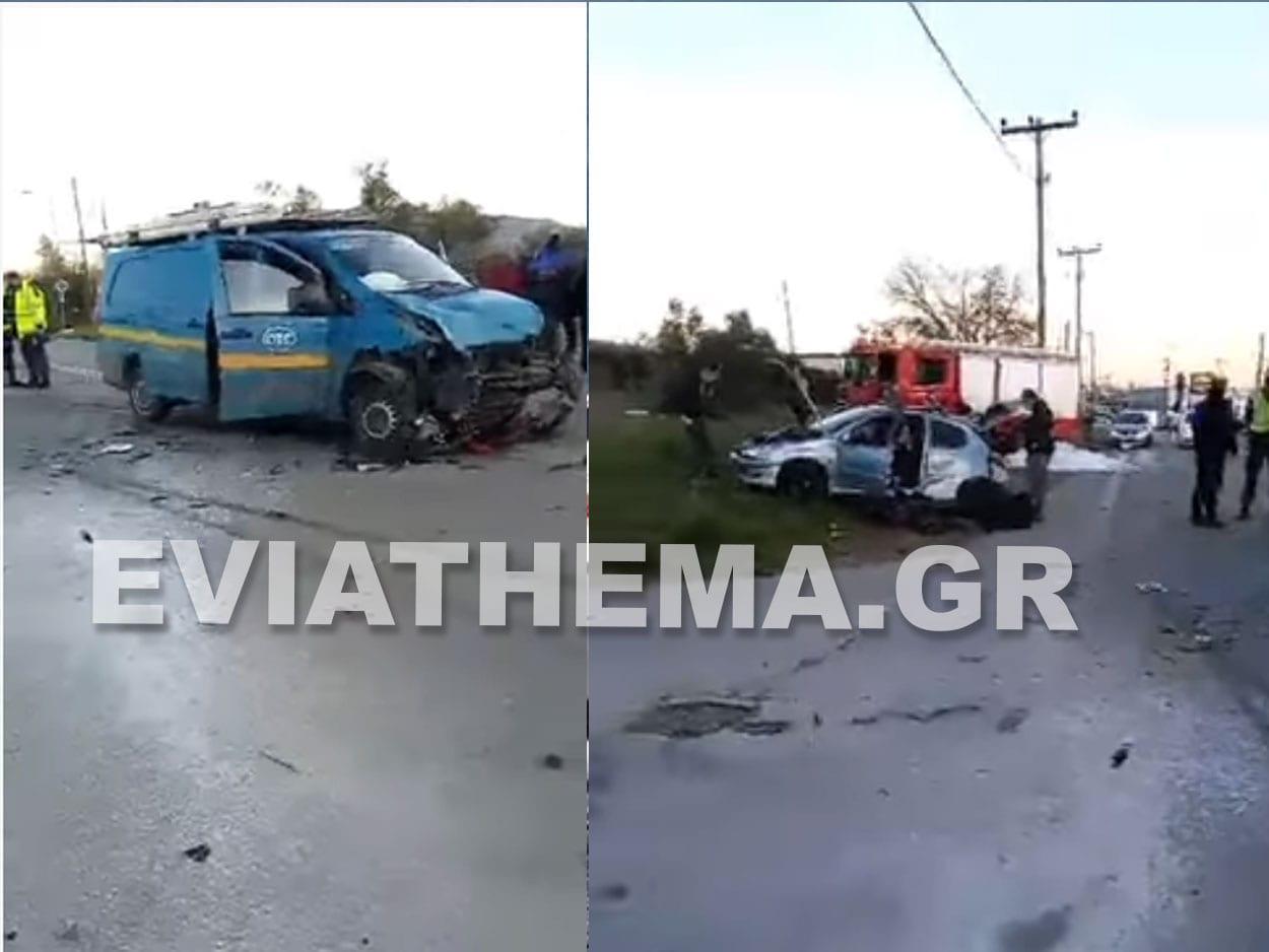 Τροχαίο σημειώθηκε λίγο πριν τις 5 το απόγευμα της Παρασκευής στην Δροσιά Χαλκίδας, Σοβαρό τροχαίο στην Δροσιά Χαλκίδας – Τραυματισμένος ο ένας οδηγός [ΦΩΤΟΓΡΑΦΙΑ], Eviathema.gr | Εύβοια Τοπ Νέα Ειδήσεις