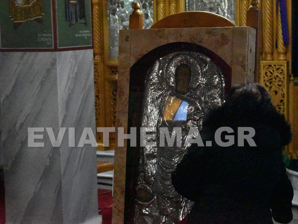 Στον Ιερό Ναό Κοιμήσεως της Θεοτόκου στα Ψαχνά έφθασε, Ψαχνά Ευβοίας: Έφτασε η θαυματουργή εικόνα του Αγίου Ιωάννου του Προδρόμου από τα Κατούνια στον ΙΝ της Παναγιάς [ΦΩΤΟΓΡΑΦΙΕΣ], Eviathema.gr | ΕΥΒΟΙΑ ΝΕΑ - Νέα και ειδήσεις από όλη την Εύβοια