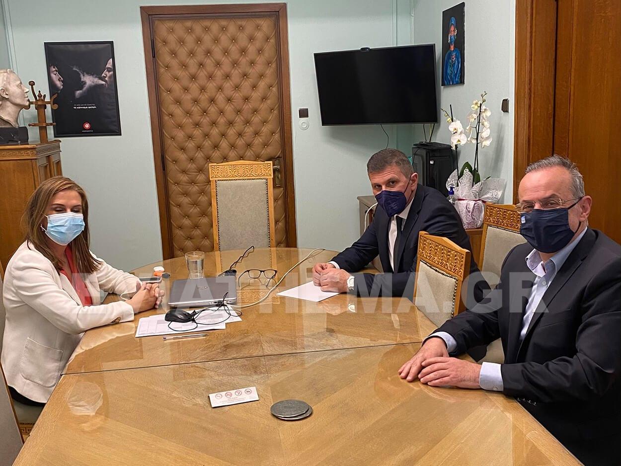 Θανάση Ζεμπίλη με την Υφυπουργό Υγείας κα Ζ. Ράπτη