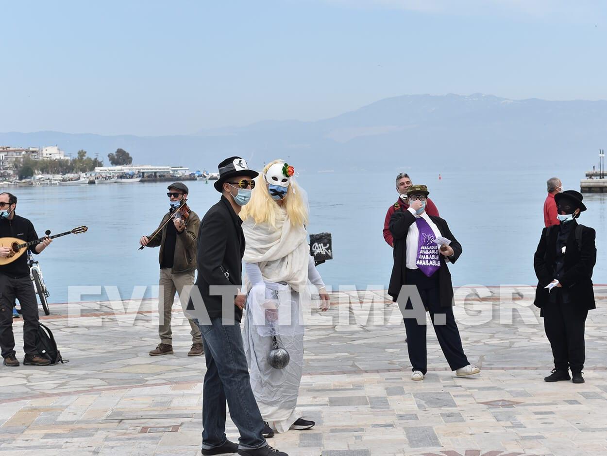 Προγραμματισμένη διαμαρτυρία πραγματοποιήθηκε το πρωί της Κυριακής από το Παράρτημα Μουσικών Εύβοιας, Χαλκίδα Ευβοίας: Διαμαρτυρία Παραρτήματος Μουσικών Εύβοιας το πρωί της Κυριακής στην Παραλία [ΦΩΤΟΓΡΑΦΙΕΣ – ΒΙΝΤΕΟ], Eviathema.gr | Εύβοια Τοπ Νέα Ειδήσεις