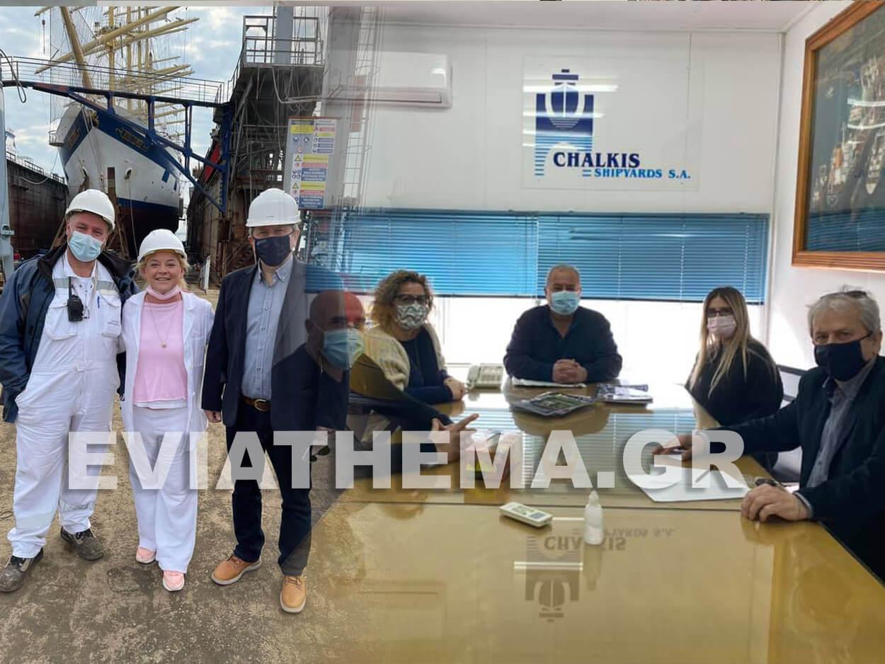 Στα Ναυπηγεία Χαλκίδας ο Κώστας Γαλάνης, Στα Ναυπηγεία Χαλκίδας ο Κώστας Γαλάνης, Eviathema.gr | Εύβοια Τοπ Νέα Ειδήσεις