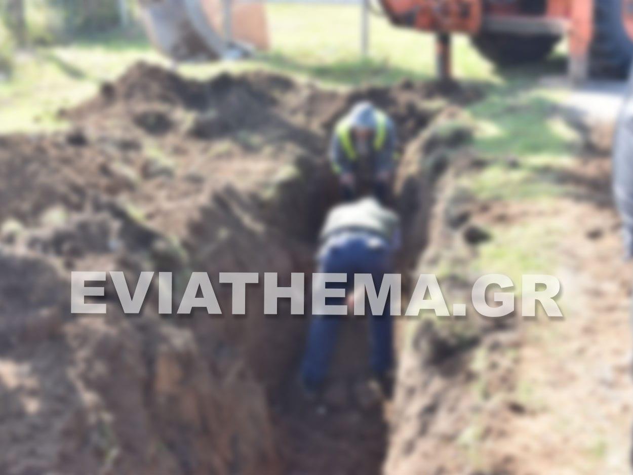 Ψαχνά Ευβοίας - Ανακάλυψη αρχαιολογικών ευρημάτων