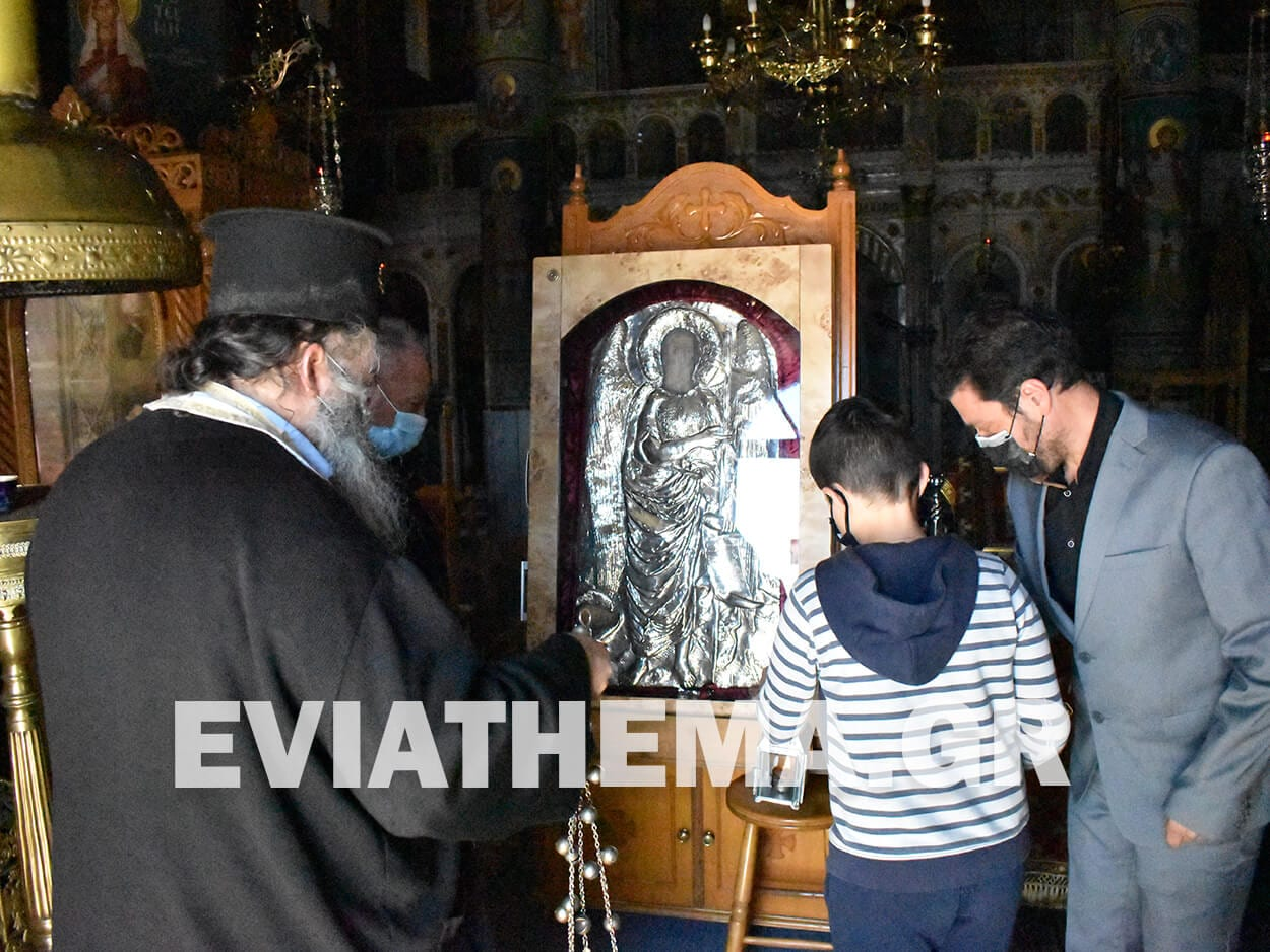 Η Θαυματουργή εικόνα του Αγίου Ιωάννου και πάλι στα Ψαχνά, Η Θαυματουργή εικόνα του Αγίου Ιωάννου και πάλι στα Ψαχνά [ΦΩΤΟ – ΒΙΝΤΕΟ], Eviathema.gr | ΕΥΒΟΙΑ ΝΕΑ - Νέα και ειδήσεις από όλη την Εύβοια