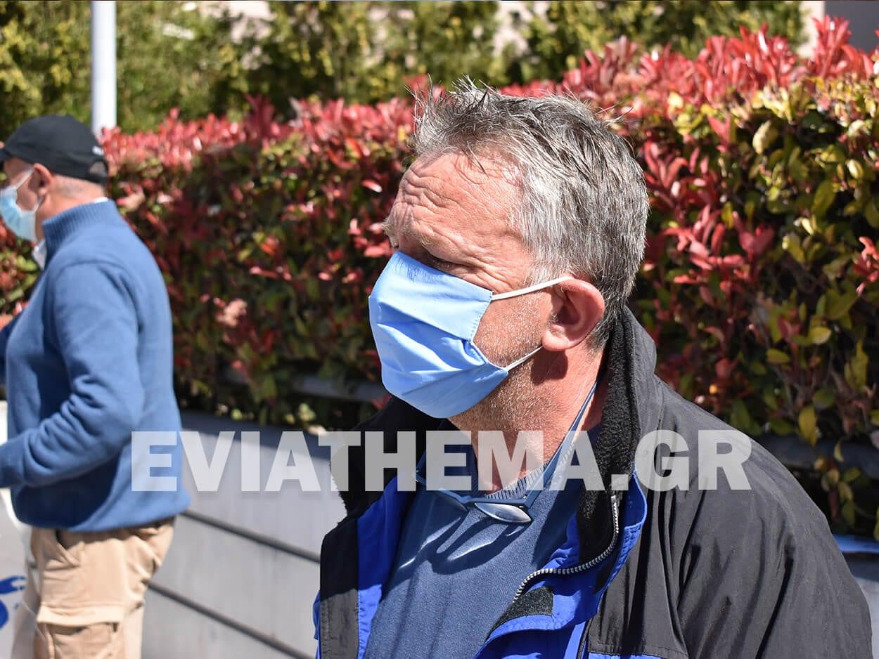 Πέτρος Κορώνης: Χαλκίδα: Διαμαρτυρία για τις ανεμογεννήτριες έξω από το Περιφερειακό Μέγαρο