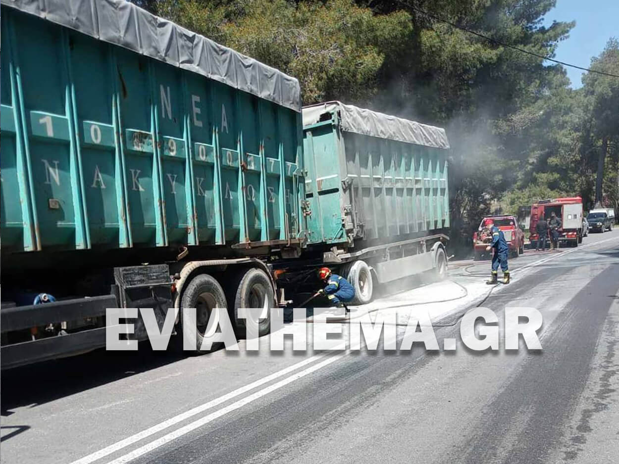 Ψαχνά Ευβοίας: Φορτηγό έπιασε φωτιά εν κινήσει στον Πεθαμένο, Ψαχνά Ευβοίας: Φορτηγό έπιασε φωτιά εν κινήσει στον Πεθαμένο [ΦΩΤΟΓΡΑΦΙΕΣ], Eviathema.gr | Εύβοια Τοπ Νέα Ειδήσεις