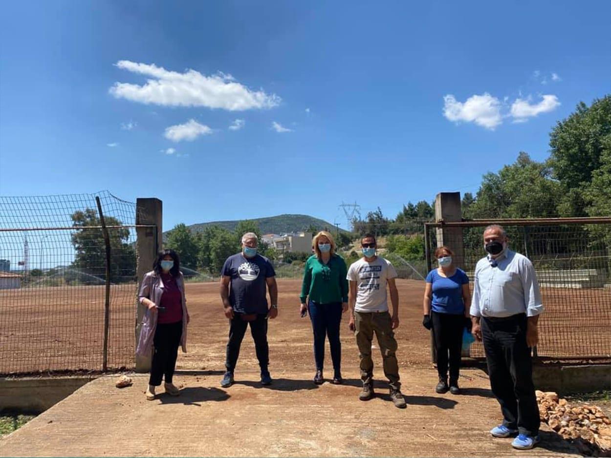 Στο γήπεδο «Μουστάκα – Τζιώτη» η Έλενα Βάκα, Το γήπεδο «Μουστάκα – Τζιώτη» επισκέφθηκαν Βάκα και Αϊδίνη, Eviathema.gr | Εύβοια Τοπ Νέα Ειδήσεις