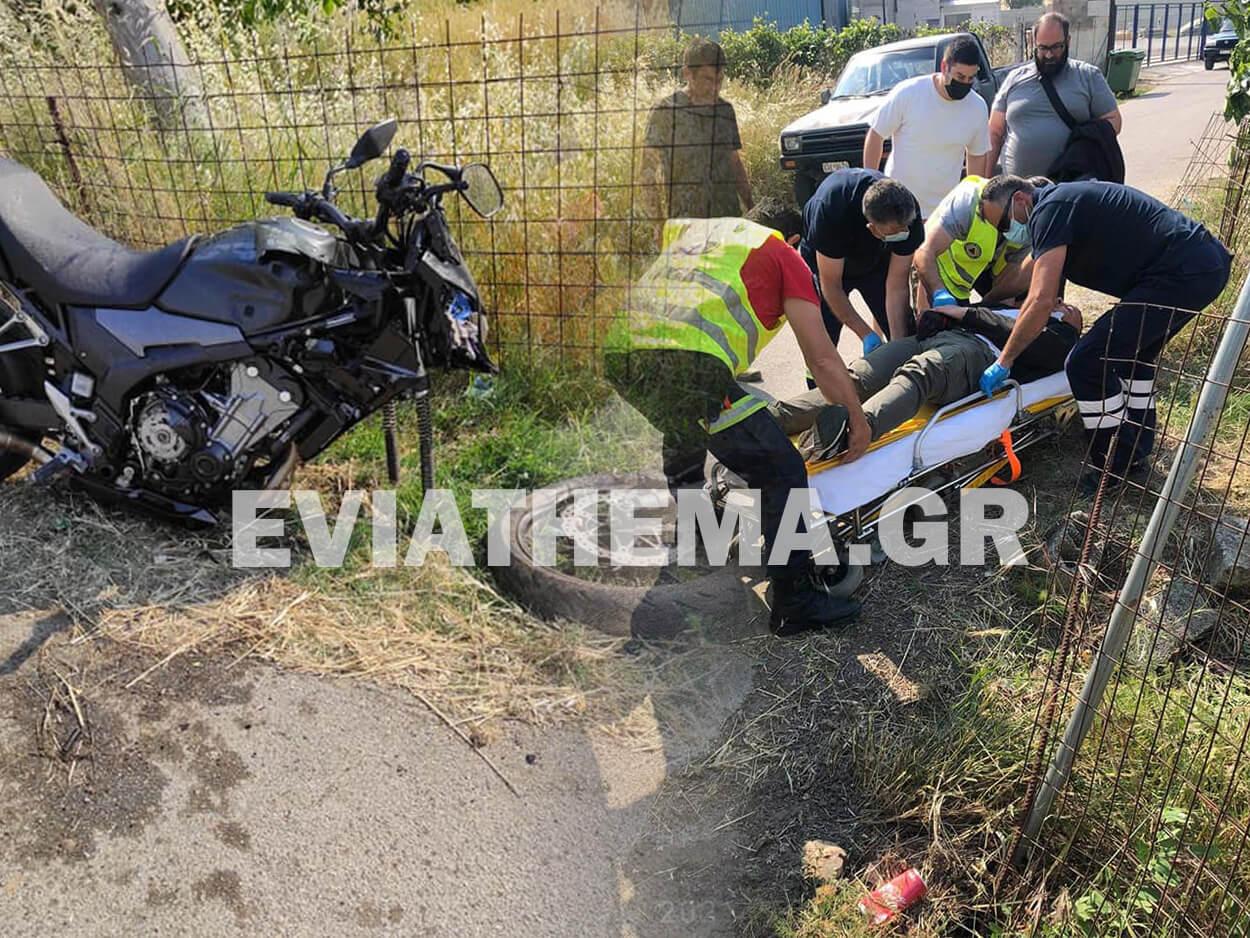 Εύβοια - Τροχαίο στα Λέπουρα το απόγευμα της Πέμπτης, Εύβοια – Τροχαίο στα Λέπουρα το απόγευμα της Πέμπτης – Τραυματισμένος στο Κέντρο Υγείας οδηγός μηχανής [ΦΩΤΟΓΡΑΦΙΕΣ], Eviathema.gr | Εύβοια Τοπ Νέα Ειδήσεις