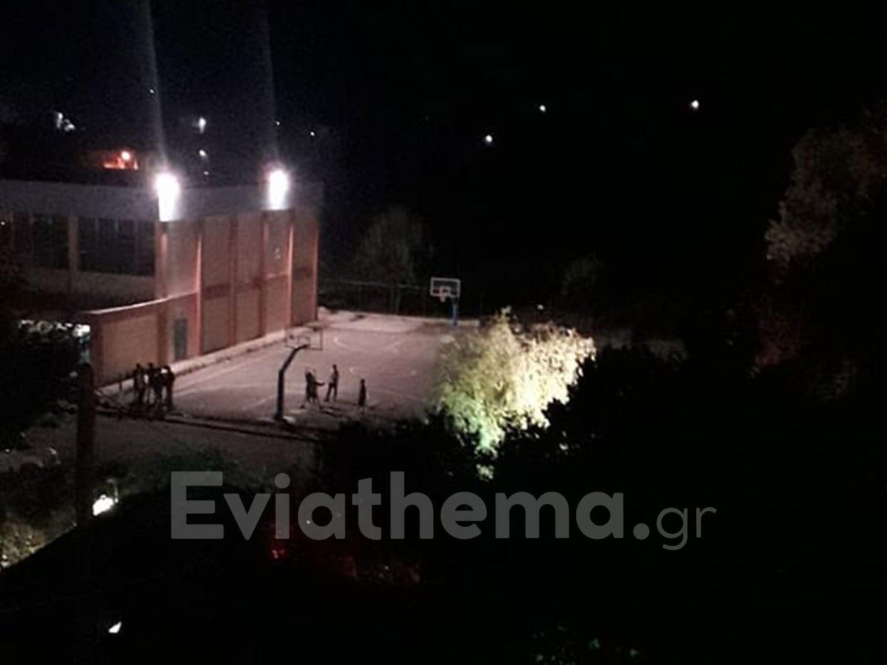 Η νύχτα μέρα στο ανοιχτό γήπεδο μπάσκετ Μαντουδίου, Η νύχτα μέρα στο ανοιχτό γήπεδο μπάσκετ Μαντουδίου, Eviathema.gr | Εύβοια Τοπ Νέα Ειδήσεις