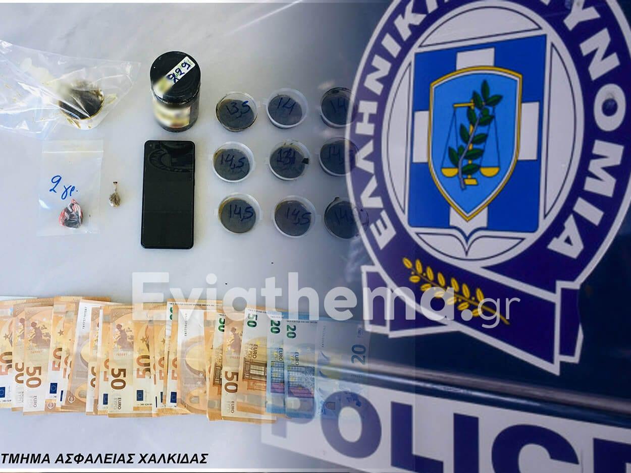 Συνελήφθη αλλοδαπός στην Αμάρυνθο Ευβοίας για κατοχή και διακίνηση ναρκωτικών, Συνελήφθη αλλοδαπός στην Αμάρυνθο Ευβοίας για κατοχή και διακίνηση ναρκωτικών – Χασισέλαιο, Κάνναβη και λεφτά εντόπισε ο αστυνομικός σκύλος της Ασφάλειας Χαλκίδας, Eviathema.gr | Εύβοια Τοπ Νέα Ειδήσεις