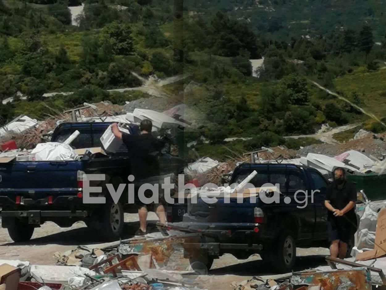 Πρωτοφανές: Συγγενής μέλους της αντιπολίτευσης του δήμου Κύμης Αλιβερίου, ΑΠΟΚΛΕΙΣΤΙΚΟ – Πρωτοφανές: Συγγενής μέλους της αντιπολίτευσης του δήμου Κύμης Αλιβερίου άδειαζε σκουπίδια στην παράνομη χωματερή [ΦΩΤΟΓΡΑΦΙΕΣ], Eviathema.gr | Εύβοια Τοπ Νέα Ειδήσεις