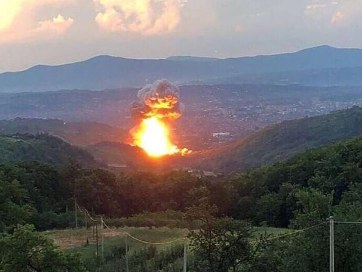 Ισχυρή έκρηξη σε εργοστάσιο πυρομαχικών στο Τσάτσακ της Σερβίας, Ισχυρή έκρηξη σε εργοστάσιο πυρομαχικών στο Τσάτσακ της Σερβίας – Τρεις τραυματίες, Eviathema.gr | Εύβοια Τοπ Νέα Ειδήσεις