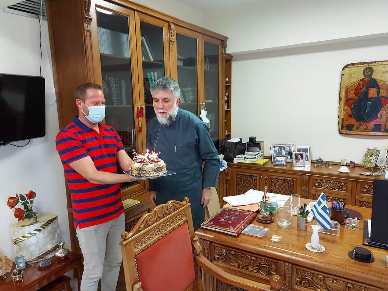 Γιόρτασε τα γενέθλια στην Μητρόπολη ο Πρωτοσύγκελος