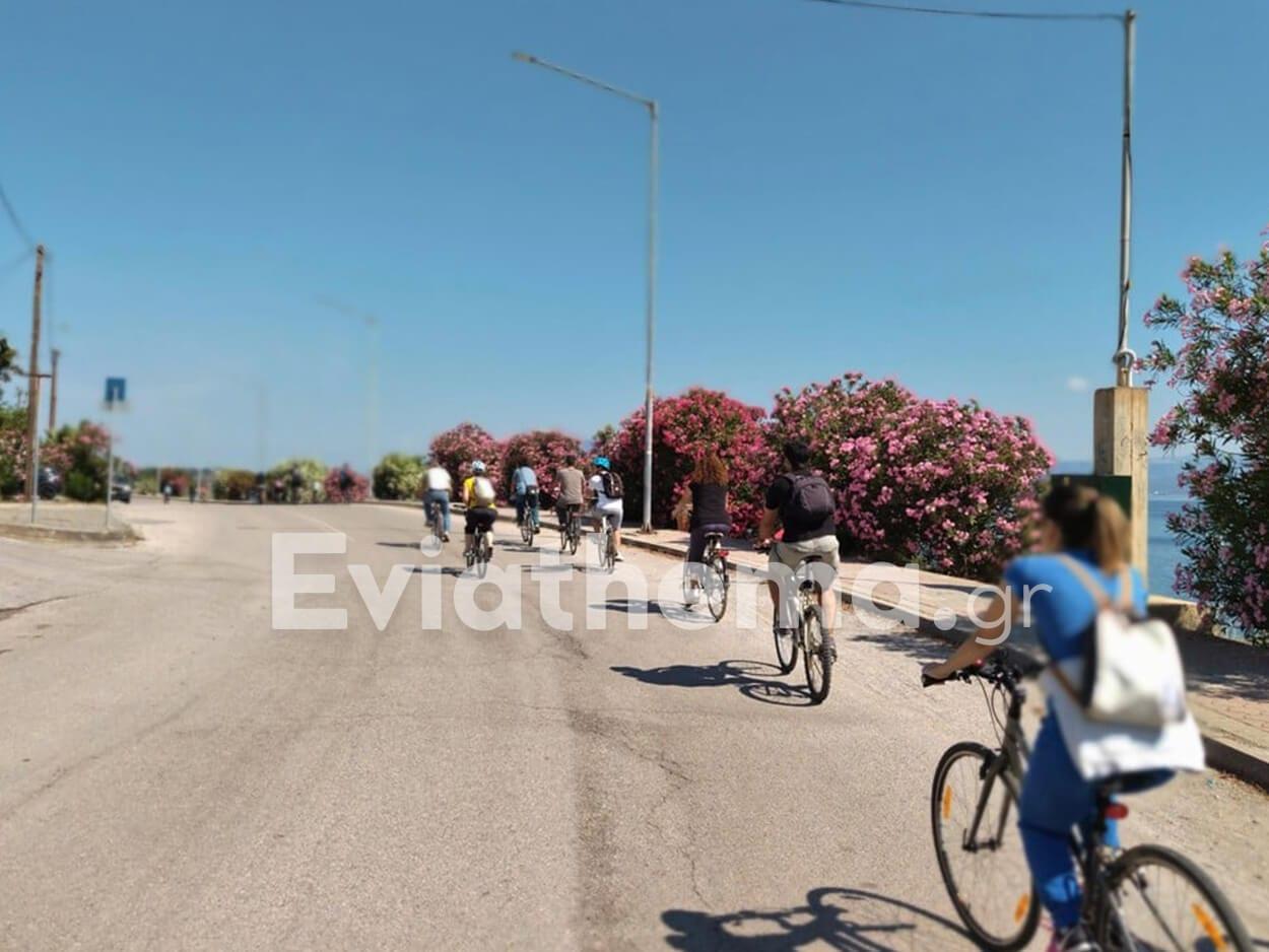 Ποδηλατοπορεία σε όλη την Χαλκίδα για την προστασία της Ευβοϊκής Φύσης, Ποδηλατοπορεία σε όλη την Χαλκίδα για την προστασία της Ευβοϊκής Φύσης [ΦΩΤΟ], Eviathema.gr | Εύβοια Τοπ Νέα Ειδήσεις