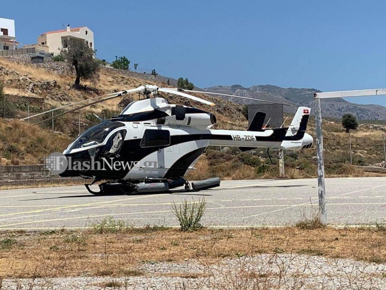 , Όλοι πήγαν με τα αυτοκίνητά τους στα Σφακιά η Γιάννα Αγγελοπούλου με το ελικόπτερο! (φωτο), Eviathema.gr | Εύβοια Τοπ Νέα Ειδήσεις