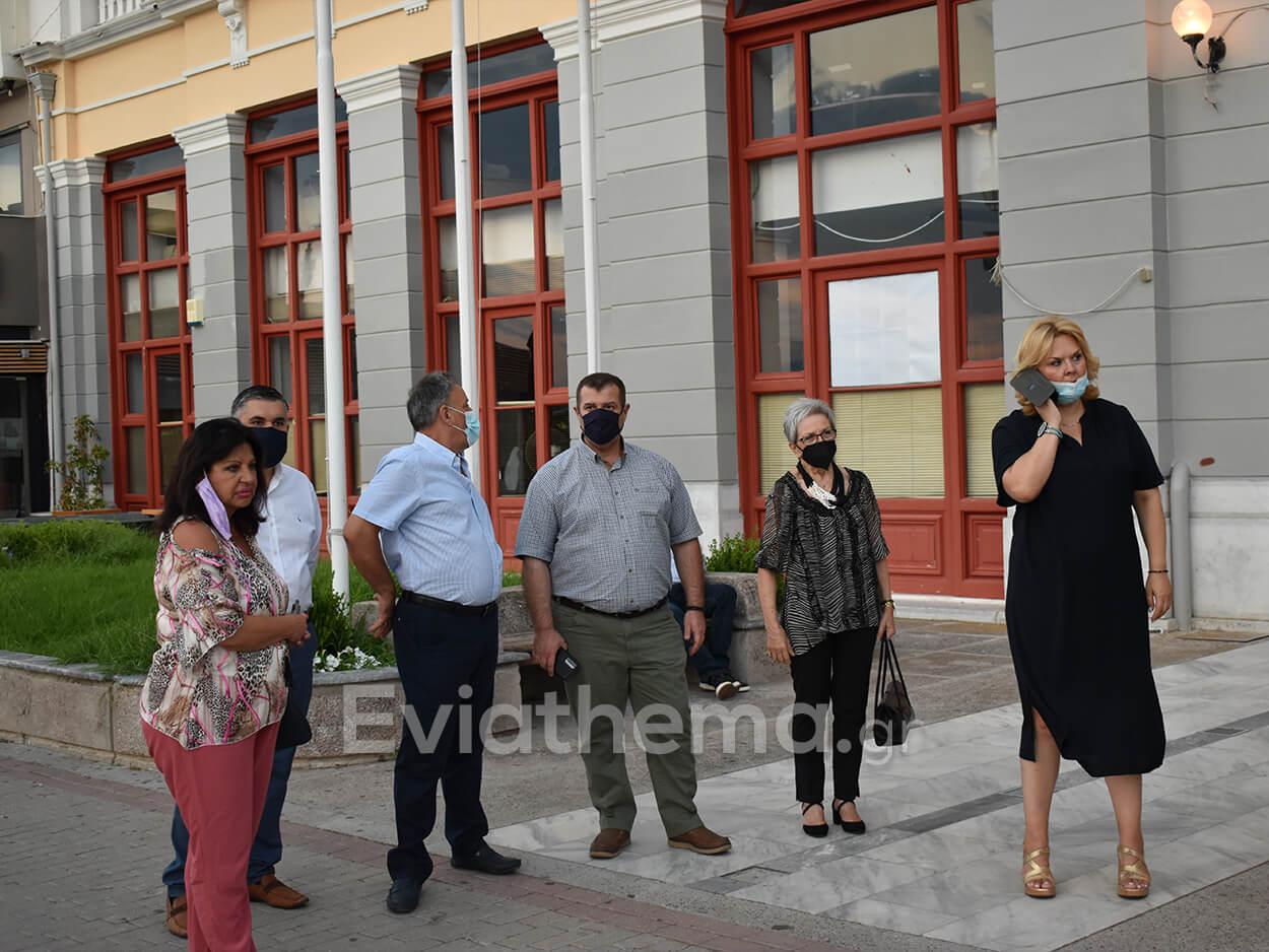 επίσκεψη του Κυριάκου Μητσοτάκη στην Χαλκίδα