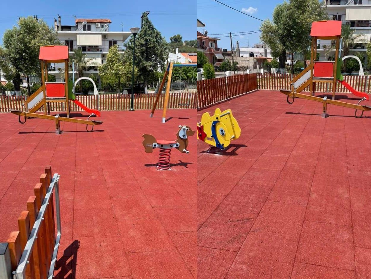Δήμος Μαντουδίου - Λίμνης - Αγίας Άννας παιδικές χαρές