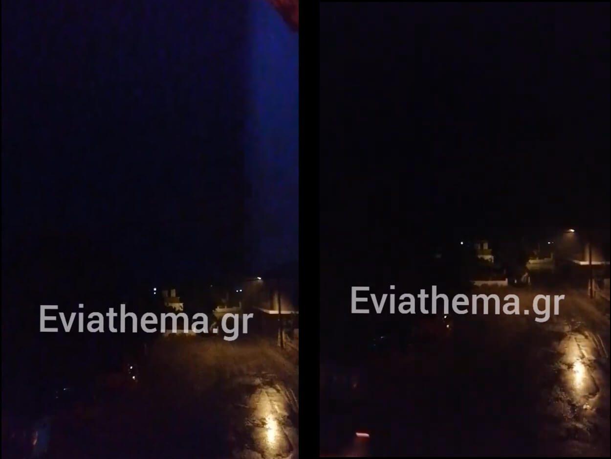 καταιγίδα στην Εύβοια