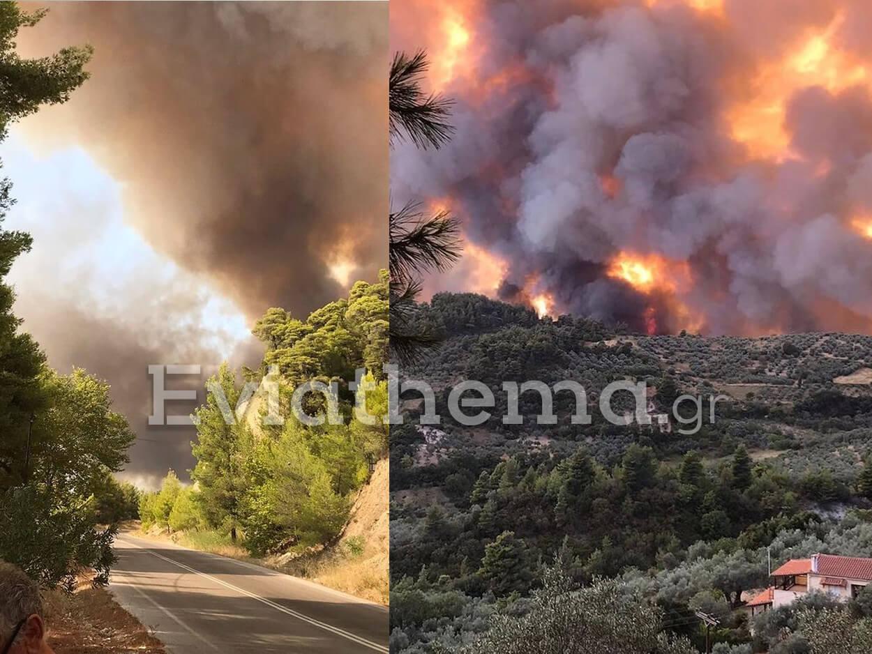 εκκένωση χωριών και οικισμών της Δημοτικής Ενότητας Ελιμνύων