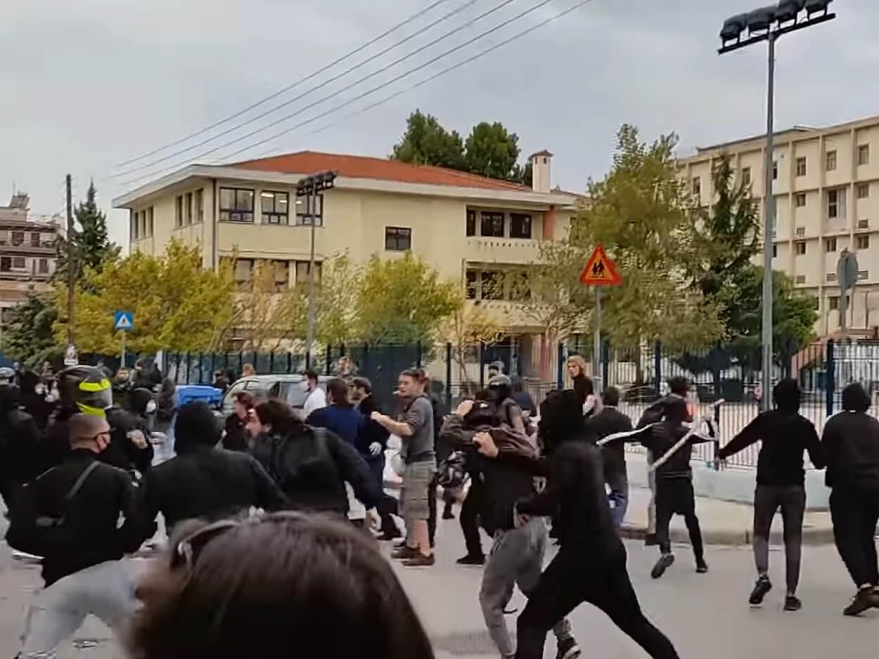 Θεσσαλονίκη: Άγρια επεισόδια