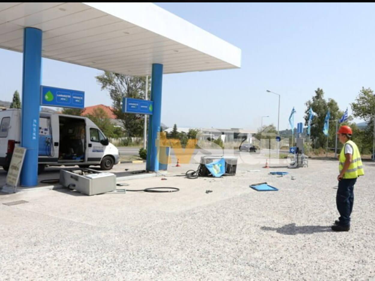 πρατήριο υγρών καυσίμων στη Λιβαδειά